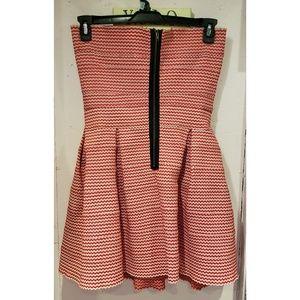 Gracia Dresses - Gracia red and white stretch knit dress